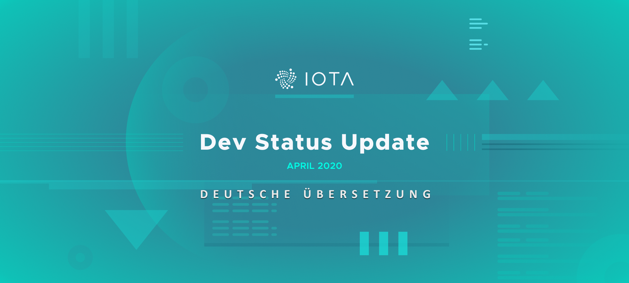 development status update iota April 2020 deutsch